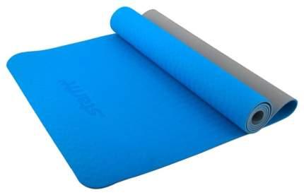 Коврик для йоги Starfit FM-201 TPE серо-синий 4 мм