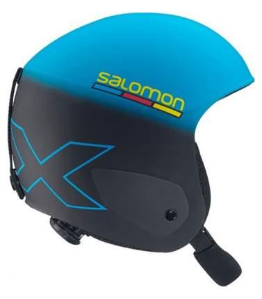 Горнолыжный шлем детский Salomon X Race Jr 2017, голубой/черный, S