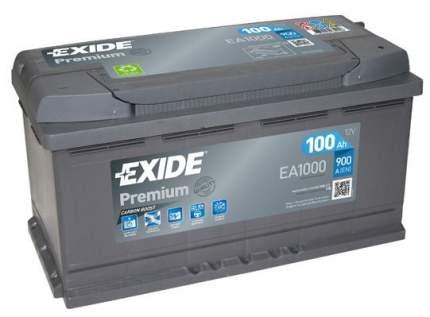 Аккумулятор автомобильный EXIDE EA1000 100 Ач