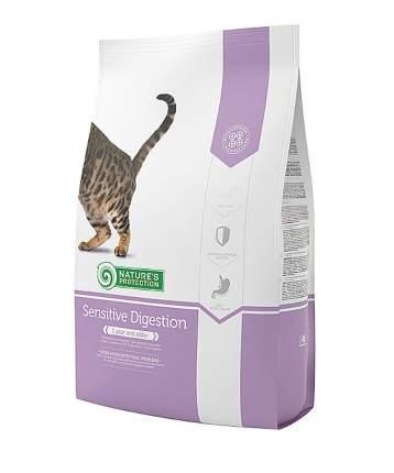 Сухой корм для кошек Nature's Protection SENSITIVE, индейка, 0,8кг
