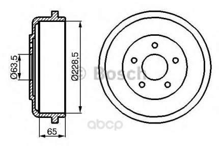 Барабан тормозной Bosch 0986477129