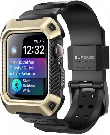 Чехол-ремешок Supcase Protective Case with Strap Bands для Apple Watch Series 4 44mm Gold