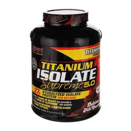 Протеин SAN Titanium Isolate Supreme 2.0 2270 г Delicious Milk Chocolate