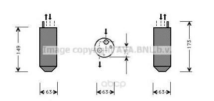 Радиатор кондиционера автомобильный Ava DWD029