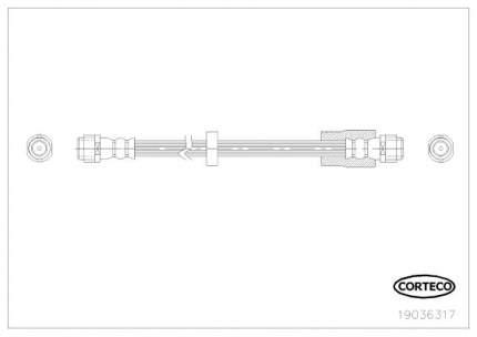 Шланг тормозной системы CORTECO 19036317