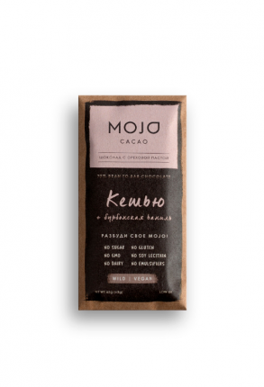 Горький шоколад 72% Mojo Cacao с шоколадно-ореховой пастой со вкусом кешью