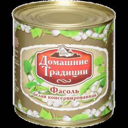 Фасоль Домашние Традиции натуральная белая 400 г