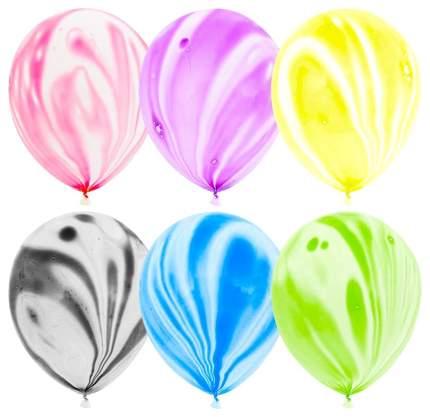 """Набор воздушных шаров 12"""" Весёлый праздник Агат ассорти 50 шт."""