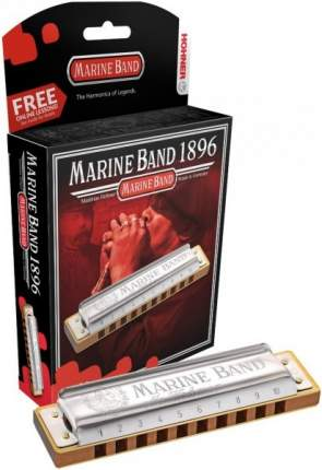 Губная гармоника диатоническая HOHNER Marine Band 1896/20 F# nat minor