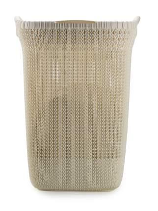 Корзина для белья Curver Knit 57л с крышкой белый (03676-X64)
