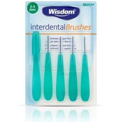 Набор Wisdom Interdental Brush интердентальных цилиндрических ершиков 0,8мм 5шт