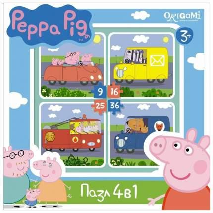 Пазл Оригами 4 в 1 Peppa Pig. Транспорт арт. 01597 1597