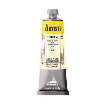 Масляная краска Maimeri Artisti 091 хром желтый светлый (имитация) 60 мл