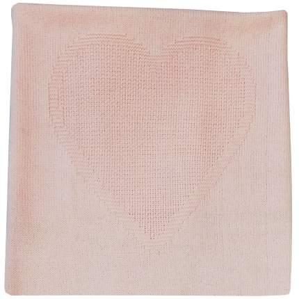 Плед Папитто вязаный однослойный Сердце Розовый 90х100