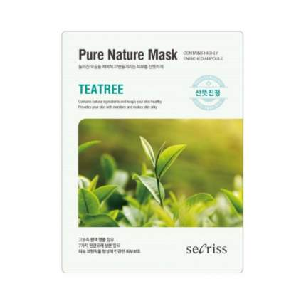 Маска для лица ANSKIN Secriss Pure Nature Mask Pack Tea Tree, 25 мл