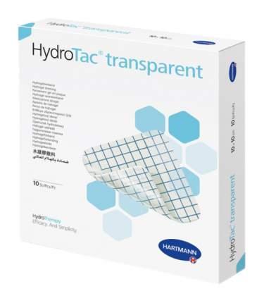 Повязка HydroTac transparent гидрогелевая для ран на стадии эпителизации 10 х 10 см 10 шт.