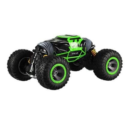 Машинка-перевертыш на радиоуправлении Hyper Actives Stunt зеленая Leopard King №1 49 см