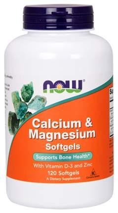Витаминно-минеральный комплекс NOW Calcium & Magnesium + D 120 капс.