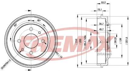 Тормозной барабан FREMAX BD-9680