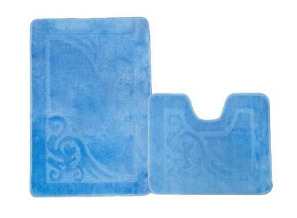 Набор ковриков для ванной ЭКО голубой, SHAHINTEX 7313-4