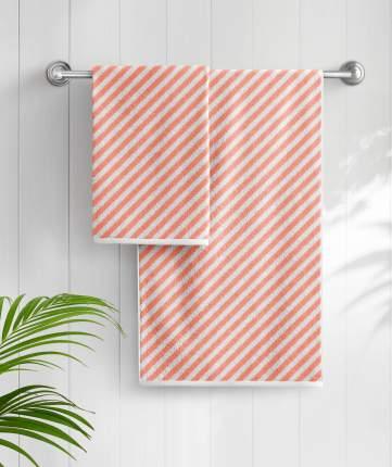 Банное полотенце Aquarelle оранжевый