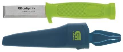 Нож-стамеска с чехлом, 195 мм, лезвие - 75 мм// СИБРТЕХ