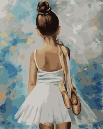 """Картина по номерам MG2054 """"Маленькая балерина"""""""