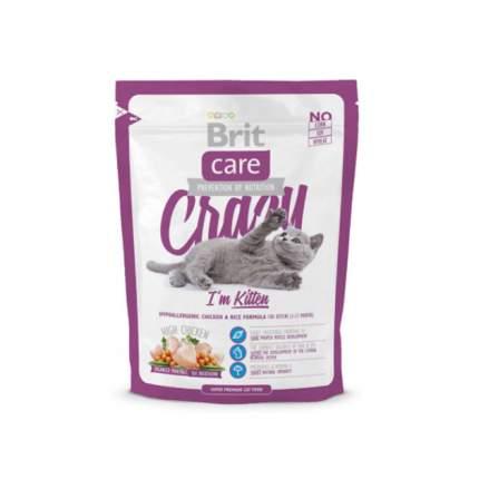 Сухой корм для котят Brit Care Crazy Kitten, курица с рисом, 0,4кг