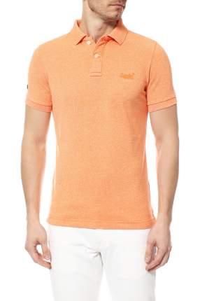 Поло мужское Superdry оранжевое XL