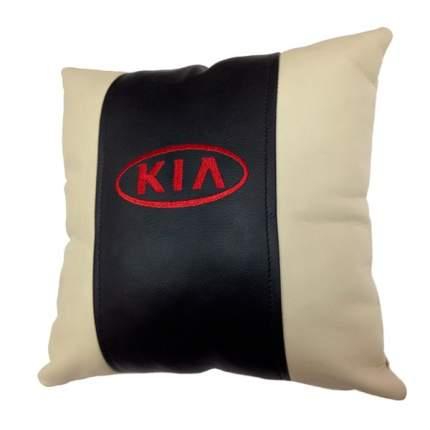 Декоративная подушка из экокожи с логотипом KIA