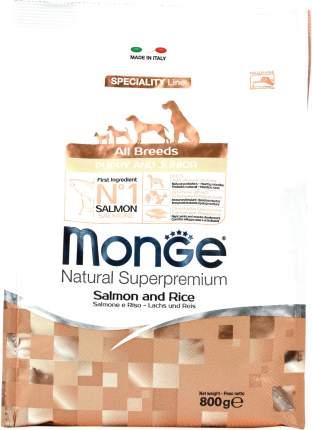 Сухой корм для щенков Monge Speciality Puppy&Junior, все породы, лосось и рис, 0,8кг