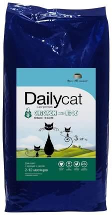 Сухой корм для котят Dailycat Kitten, курица с рисом, 3кг