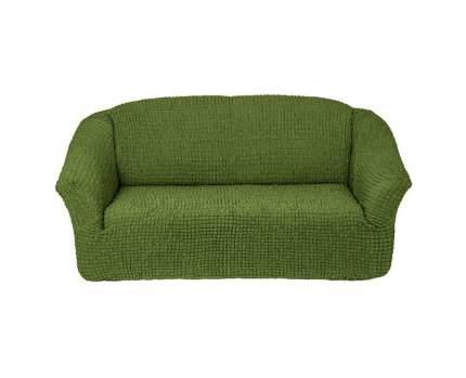 комплект чехлов Karbeltex Комфорт на 3-х местный диван без оборки, цвет зеленый