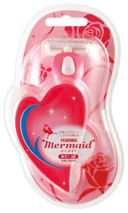 Станок для бритья Feather Mermaid женский
