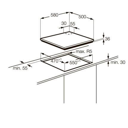 Встраиваемая варочная панель газовая Zanussi ZGG62414WA White
