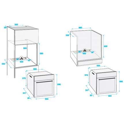 Встраиваемый электрический духовой шкаф Beko OIM27201C Beige