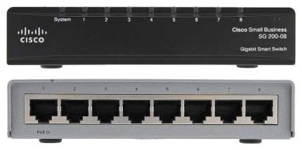 Коммутатор Cisco Small Business 200 Series SG200-08 Черный