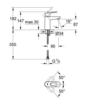 Смеситель для раковины Grohe BauLoop 23337000 хром