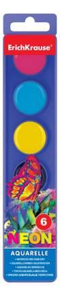 Акварель Erich Krause Neon медовая 6 цветов