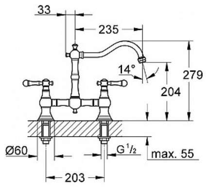 Смеситель для кухонной мойки Grohe 30187000 хром