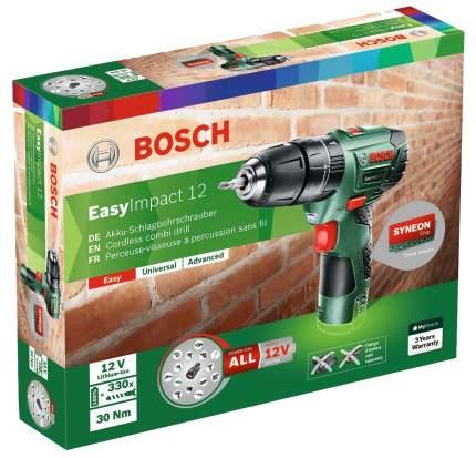 Аккумуляторная дрель-шуруповерт Bosch EasyImpact 12 060398390N БЕЗ АККУМУЛЯТОРА И З/У