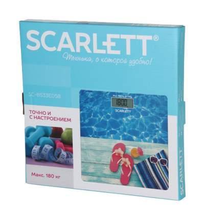 Весы напольные Scarlett SC-BS33E058 Синий