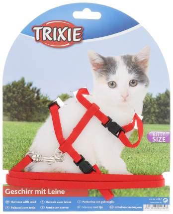 Шлейка TRIXIE однотонная с поводком для котят