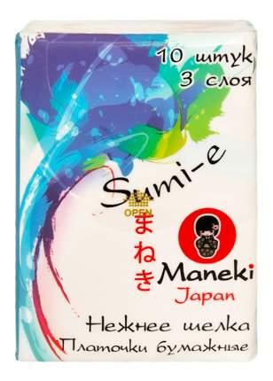 Бумажные салфетки Maneki sumi-e 1 упаковка 10 штук