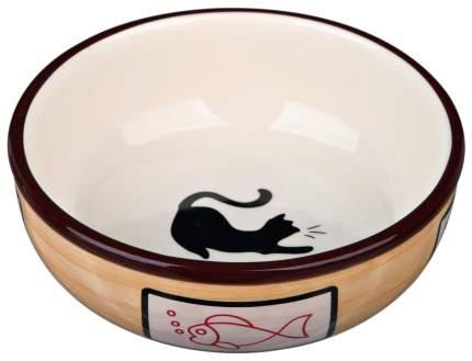 Одинарная миска для кошек и собак TRIXIE, керамика, в ассортименте, 0.35 л