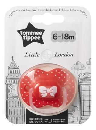 Пустышка силиконовая Little London (6-18 мес.) для девочек tommee tippee 43341155