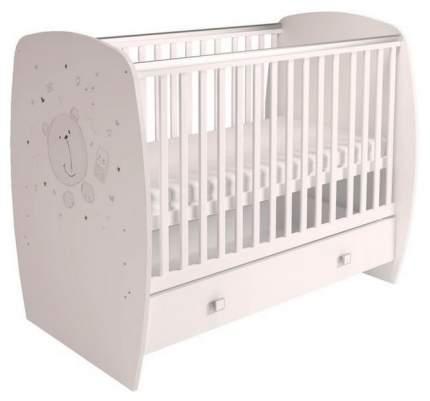 Кроватка детская Polini Kids French 710 Teddy с ящиком Белый
