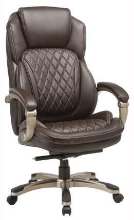 Кресло руководителя Бюрократ T-9915/BROWN, коричневый/золото