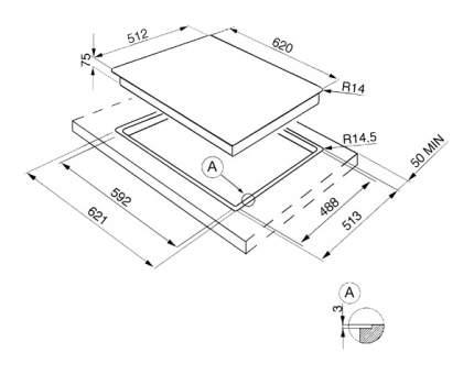 Встраиваемая варочная панель газовая Smeg PGF64F-4 Silver