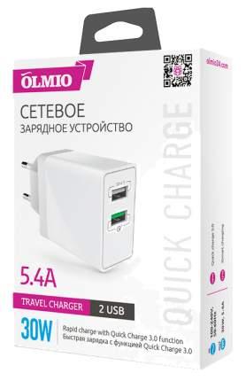 Сетевое зарядное устройство Olmio Quick Charge 2 USB 5,4A White